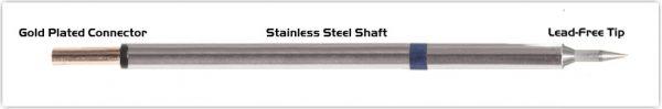 "Thermaltronics PM60LR400 Bevel 60deg Long Reach 1.0mm (0.04"") interchangeable for Metcal STP-BVL10"
