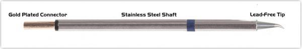 "Thermaltronics PM60SB276 Bent Sharp 30deg 0.5mm (0.02"") interchangeable for Metcal STP-CNB05"
