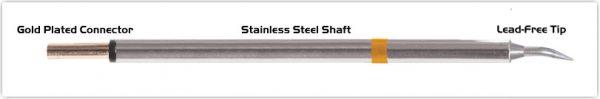 "Thermaltronics PM75B325 Bent Sharp 30deg 0.4mm (0.016"") interchangeable for Metcal SFP-CNB04"