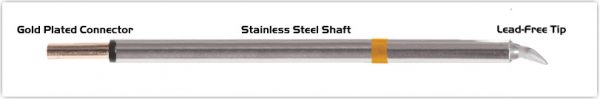 "Thermaltronics PM75CB225 Chisel Bent 30deg 1.78mm (0.07"")"