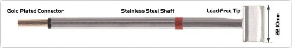 """Thermaltronics PM80LB127 Blade Tip 22.1 mm (0.87"""") interchangeable for Metcal RCP-BL3"""