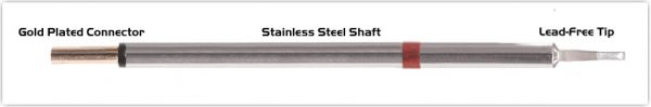 """Thermaltronics PM80LR403 Chisel 60deg Long Reach 1.78mm (0.07"""") interchangeable for Metcal SCP-CHL20"""
