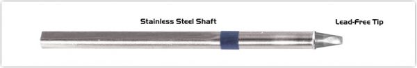 "Thermaltronics S60CH025 Chisel 30deg 2.5mm (0.10"") interchangeable for Metcal SSC-636A"