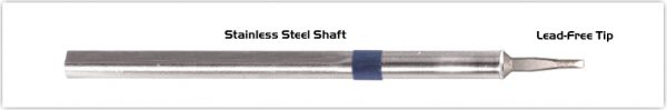 "Thermaltronics S60LR018A Chisel Long Reach 1.78mm (0.07"") interchangeable for Metcal SSC-642A"