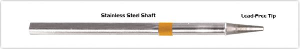 "Thermaltronics S75LR018 Chisel Long Reach 1.78mm (0.07"") interchangeable for Metcal SSC-770A"