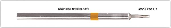 """Thermaltronics S75LR018A Chisel Long Reach 1.78mm (0.07"""") interchangeable for Metcal SSC-742A"""