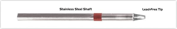 "Thermaltronics S80CH025 Chisel 30deg 2.5mm (0.10"") interchangeable for Metcal SSC-836A"