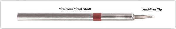 """Thermaltronics S80LR018A Chisel Long Reach 1.78mm (0.07"""") interchangeable for Metcal SSC-842A"""