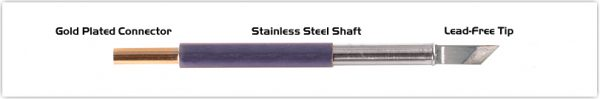 "Thermaltronics TM60K100 Knife 4.83mm (0.19""), Tin Area 2.03mm (0.08"")"