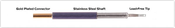 "Thermaltronics TM60LR403 Chisel 60deg Long Reach 1.78mm (0.07"")"
