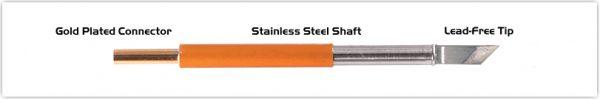 "Thermaltronics TM70K100 Knife 4.83mm (0.19""), Tin Area 2.03mm (0.08"")"