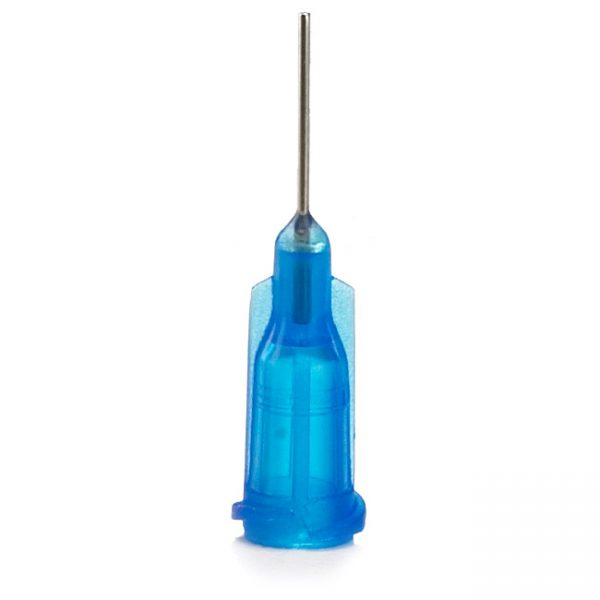 "Premium Stainless Steel Dispensing Tips 22 Gauge X 1/2"" Blue"