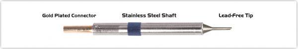 "Thermaltronics K60BVF010 Bevel 60deg 1.00mm (0.04""), Tin Area Face Only"