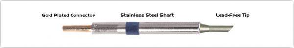 "Thermaltronics K60BVF030 Bevel 45deg 3.00mm (0.12""), Tin Area Face Only"