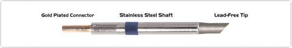 "Thermaltronics K60BVF050 Bevel 45deg 5.00mm (0.20""), Tin Area Face Only"