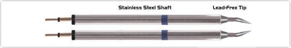 """Thermaltronics K60TZ004 Tweezers Cartridge Pair - Bent 30deg Sharp 0.4mm (0.016"""")"""