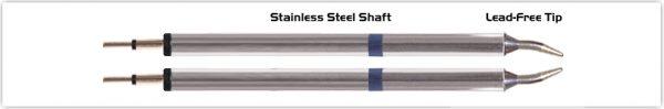 """Thermaltronics K60TZ010 Tweezers Cartridge Pair - Conical Sharp 1.0mm (0.04"""")"""