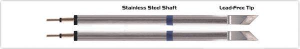 "Thermaltronics K60TZ025 Tweezers Cartridge Pair - Knife Tinned area 2.03mm (0.08"")"
