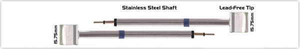 """Thermaltronics K60TZ160 Tweezers Cartridge Pair - Blade Tip 15.75mm (0.62"""")"""
