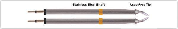 """Thermaltronics K70TZ015 Tweezers Cartridge Pair - Chisel 1.5mm (0.06"""")"""