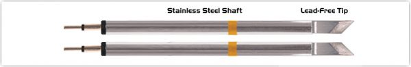 "Thermaltronics K70TZ025 Tweezers Cartridge Pair - Knife Tinned area 2.03mm (0.08"")"