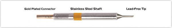 "Thermaltronics K75BVF010 Bevel 60deg 1.00mm (0.04""), Tin Area Face Only"