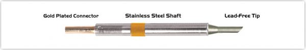 "Thermaltronics K75BVF030 Bevel 45deg 3.00mm (0.12""), Tin Area Face Only"