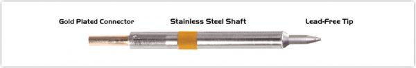 "Thermaltronics K75CH008 Chisel 30deg 0.8mm (0.031""), Micro Fine"
