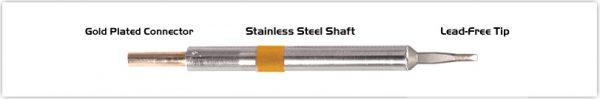"Thermaltronics K75LR018A Chisel Long Reach 1.78mm (0.07"")"