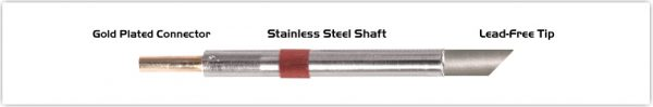 "Thermaltronics K80BVF060 Bevel 45deg 6.00mm (0.24""), Tin Area Face Only"
