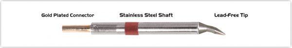 "Thermaltronics K80CB012 Chisel Bent 30deg 1.2mm (0.05"")"