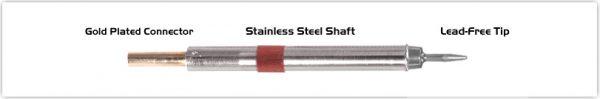 "Thermaltronics K80CS010 Conical Sharp 1.00mm (0.04"")"