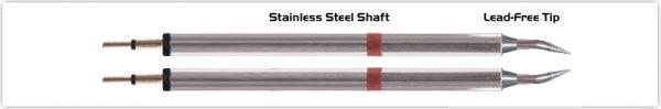 """Thermaltronics K80TZ004 Tweezers Cartridge Pair - Bent 30deg Sharp 0.4mm (0.016"""")"""