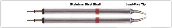 """Thermaltronics K80TZ010 Tweezers Cartridge Pair - Conical Sharp 1.0mm (0.04"""")"""