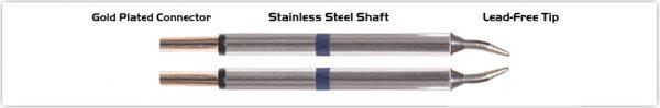 """Thermaltronics M60TZ010 Tweezers Cartridge Pair - Conical Sharp 1.0mm (0.04"""")"""
