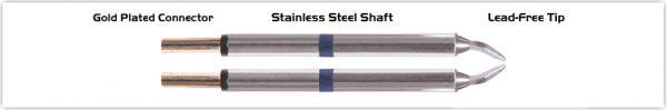 "Thermaltronics M60TZ015 Tweezers Cartridge Pair - Chisel 1.5mm (0.06"")"