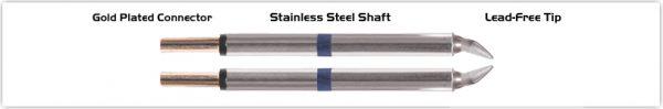 "Thermaltronics M60TZ018B Tweezers Cartridge Pair - Chisel 1.78mm (0.07"")"