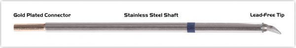 """Thermaltronics M6CB225 Chisel Bent 30deg 1.78mm (0.07"""") interchangeable for Metcal STTC-098"""