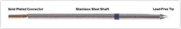 """Thermaltronics M6CH179 Chisel 30deg 1.0mm (0.04"""") interchangeable for Metcal STTC-025P"""