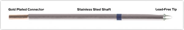 """Thermaltronics M6CP201 Chisel 30deg 1.80mm (0.07"""") interchangeable for Metcal STTC-037P"""