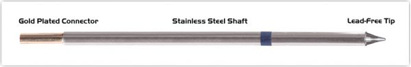 """Thermaltronics M6CP303 Conical Sharp 1.0mm (0.04"""") interchangeable for Metcal STTC-001P"""