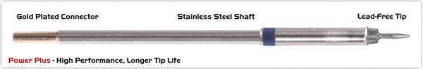 "Thermaltronics M6CS151H Conical Sharp 1.0mm (0.04""), Power Plus"