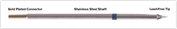 """Thermaltronics M6CS152 Conical Sharp 0.4mm (0.016"""") interchangeable for Metcal STTC-022"""