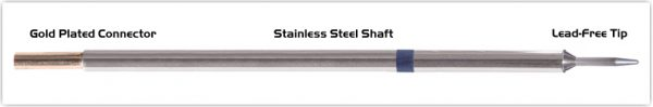 """Thermaltronics M6CS154 Conical Sharp 1.0mm (0.04"""") interchangeable for Metcal STTC-007"""