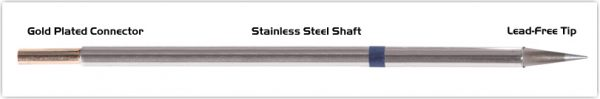 """Thermaltronics M6CS155 Conical Sharp 0.5mm (0.02"""") interchangeable for Metcal STTC-043"""