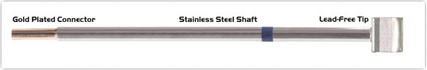 """Thermaltronics M6LB125 Blade Tip 10.41mm (0.41"""") interchangeable for Metcal SMTC-060"""
