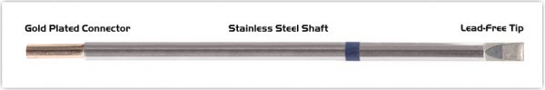 """Thermaltronics M6LC650 Chisel Extra Large 5.0mm (0.20"""") interchangeable for Metcal STTC-065"""