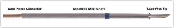 """Thermaltronics M6LR401 Hoof Long Reach 60deg 3.05mm (0.12"""") interchangeable for Metcal SMTC-0170"""