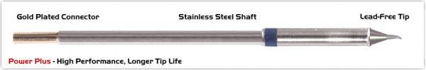 "Thermaltronics M6SB275H Bent Sharp 30deg 0.5mm (0.02""), Power Plus"