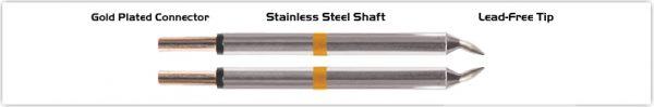"Thermaltronics M70TZ010B Tweezers Cartridge Pair - Chisel 1.00mm (0.04"")"